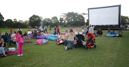 Outdoor movie hire