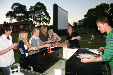 Outdoor movie fundraising