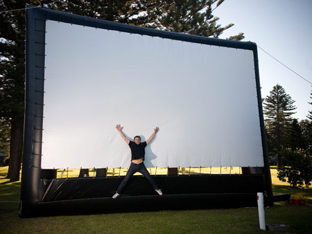 Inflatable screen